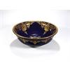 Porcelain Sink Bowl, Blue, Purple, Gold