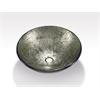 Glass Sink Bowl, Metallic Silver