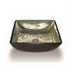 Legion furniture Glass Sink Bowl, Transluscent, Gold