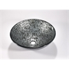Glass Sink Bowl, Black Nickel, Silver