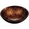 Legion furniture Glass Sink Bowl, Copper, Bronze
