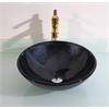 Legion furniture Glass Sink Bowl, Midnight Navy