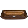 Legion furniture Glass Sink Bowl, Metallic Gold, Bronze