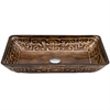 Legion furniture Glass Sink Bowl, Copper