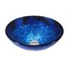 Legion furniture Glass Sink Bowl, Royal Blue