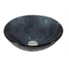 Legion furniture Glass Sink Bowl, Dark Blue