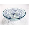 Legion furniture Glass Sink Bowl, Transluscent, Blue