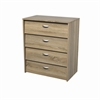 Bright 4 Drawer Shoe Cabinet, Oak Structure