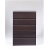Naia 5 Drawer Chest, Coffee