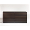 Tvilum Naia 6 Drawer Double Dresser, Coffee