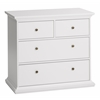 Paris 4 Drawer Chest, White