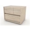 Tvilum Pilsen 2 Drawer Nightstand, Oak Structure