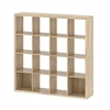 Divide 4 X 4 Bookcase, Oak Structure