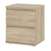 Tvilum Nova 2 Drawer Nightstand, Oak Structure