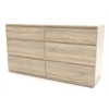 Tvilum Nova 6 Drawer Double Dresser, Oak Structure