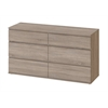 Nova 6 Drawer Double Dresser, Truffle