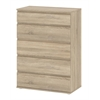 Tvilum Nova 5 Drawer Wide Chest, Oak Structure