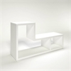 Flexo 2 Shelf Bookcase, White