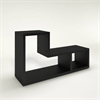 Flexo 2 Shelf Bookcase, Black Woodgrain