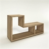 Flexo 2 Shelf Bookcase, Oak Structure
