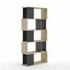 Tvilum Twist 7 Shelf Bookcase, Oak Structure / Black