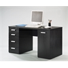 Function Plus Desk, Black Wood Grain