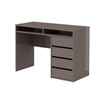 Function Plus 4 Drawer and 2 Shelf Desk, Mocha High Gloss