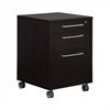 Tvilum Prima 3 Drawer Mobile File Cabinet, Coffee