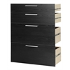 Prima 2 File Drawer and 2 Door Bookcase Accessory, Black Wood Grain