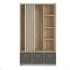 Lola 3 Bin Curtain Storage Center