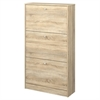 Bright 3 Drawer Shoe Cabinet, Oak Structure