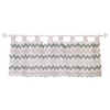 My Baby Sam Chevron in Pink/Gray Curtain Valance
