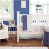 My Baby Sam Follow Your Arrow in Navy 3pc Crib Bedding Set