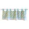 My Baby Sam Follow Your Arrow in Aqua Curtain Valance