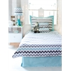 Chevron in Aqua/Gray Full Bedding Set