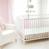 My Baby Sam Pixie Baby in Pink Bumperless Crib Sheet