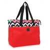 "FWI 18"" Chevron Weekender Tote, Red/ Les Plages"