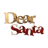 Letter2Word Dear Santa Wall Decor