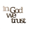 Letter2Word In God We Trust Wall Decor