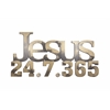 Letter2Word Jesus 24/7/365 Wall Decor