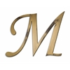 Letter2Word Individual Script Letters Wall Decor, Letter M