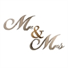 Letter2Word Mr and Mrs Wall Decor