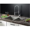 Ruvati RVC1341 Stainless Steel Kitchen Sink and Chrome Faucet Set