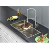 Ruvati RVC1352 Stainless Steel Kitchen Sink and Stainless Steel Faucet Set