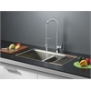 Ruvati RVC1381 Stainless Steel Kitchen Sink and Chrome Faucet Set