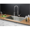 Ruvati RVC1391 Stainless Steel Kitchen Sink and Chrome Faucet Set