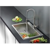 Ruvati RVC1392 Stainless Steel Kitchen Sink and Stainless Steel Faucet Set
