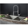 RVC1401 Stainless Steel Kitchen Sink and Chrome Faucet Set