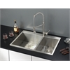 Ruvati RVC1402 Stainless Steel Kitchen Sink and Stainless Steel Faucet Set