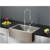 Ruvati RVC1421 Stainless Steel Kitchen Sink and Chrome Faucet Set